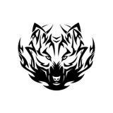 Tribal wolf tattoo Stock Image