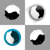 Wolf yin yang icon. Vector illustration wolf yin yang icon stock illustration