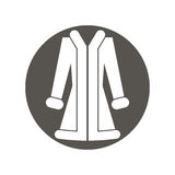 Vector illustration of woman coat. Royalty Free Stock Photography
