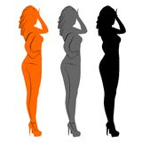 Women. An a vector illustration of Women Stock Illustration