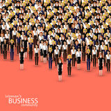 Vector illustration of women business community. a crowd of business women or politicians. Vector flat illustration of women business community. a crowd of Stock Photo