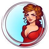 Vector illustration of women in elegant red dress Stock Photo