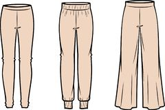 Women`s casual pants royalty free illustration