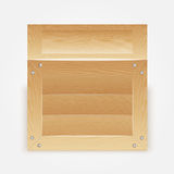 Vector illustration of wooden box Royalty Free Stock Photo