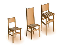 Vector illustration a wooden chair Stock Photography