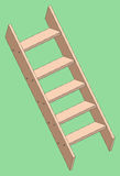 Vector illustration of a wooden stepladder Royalty Free Stock Photos