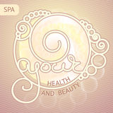 Vector illustration with  words  Your health and beauty. Royalty Free Stock Photos