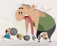 Workout for a beginner. Vector illustration of a workout for a beginner Royalty Free Stock Photo