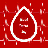 Vector illustration. World blood donor day June-14. Blood donation concept with drop. Global public health campaign by World Healt Royalty Free Stock Photos