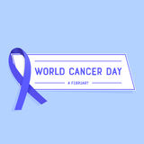 Vector illustration of World Cancer Day. Royalty Free Stock Images