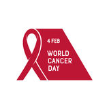 Vector illustration of World Cancer Day. Stock Photos