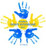 World Down Syndrome Day. Vector illustration for World Down Syndrome Day on white background vector illustration