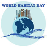 Vector illustration for World Habitat Day. Suitable for greeting card, poster and banner. Vector illustration for World Habitat Day. Suitable for greeting card Royalty Free Stock Image