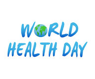 Vector Illustration of World health day concept text design with Earth globe. Royalty Free Stock Images