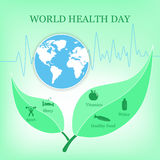 Vector illustration for World Health Day Stock Photos