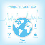 Vector illustration for World Health Day Stock Images