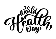 Vector illustration World Heart Day lettering quote. Vintage text, lettering phrase. Isolated on white background.  Stock Images