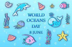 World ocean day Stock Photography