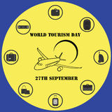 Vector illustration World Tourism day. Vector illustration World Tourism day Royalty Free Stock Photos