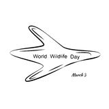 Vector Illustration of World Wildlife Day with Animal Footprint. Black and White Vector Illustration of World Wildlife Day with Animal Footprint Stock Photo