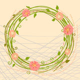 Vector illustration of a wreath of flowers Stock Image