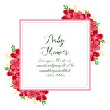 Vector illustration wreath frames isolated on white backdrop with baby shower vector illustration