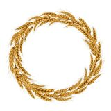 Vector illustration of a wreath of wheat spikelets. Stock Photography