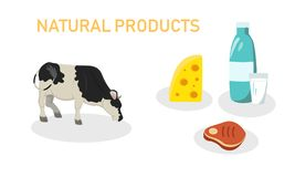 Vector Illustration is Written Natural Products. stock illustration