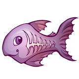 Vector illustration of x-ray fish in cartoon style Royalty Free Stock Photos