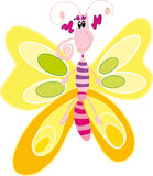 Butterfly. Vector illustration of the yellow butterfly Stock Photography
