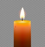Golden yellow candle stock illustration