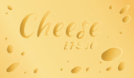 Vector illustration. Yellow cheese with holes.  Stock Photography