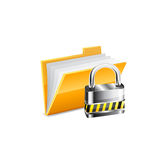 Vector illustration with yellow folder Royalty Free Stock Image
