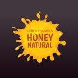 Vector illustration of Yellow honey blot isolate on dark background. Stock Photography