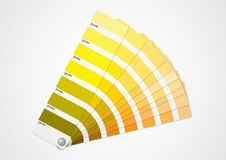 Yellow colors guide Royalty Free Stock Images