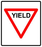 Vector illustration of a yield road sign. Stock Images