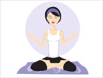 Vector illustration of yoga pose Royalty Free Stock Photos