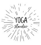 Vector illustration for an yoga studio Stock Photography