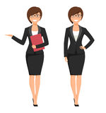 Vector illustration of a young smiling businesswoman Royalty Free Stock Image