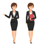 Vector illustration of a young smiling businesswoman Stock Photography