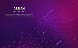Different water drops lie on gradient background. royalty free stock photography