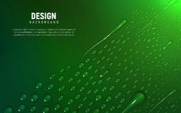 Different water drops lie on gradient background. vector illustration