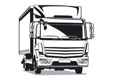 Commercial transport illustration Royalty Free Stock Images