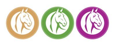 Horse emblem Stock Photo