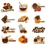 Yummy Chocolate label tag sticker for Advertisement. Vector illustration of yummy Chocolate label tag sticker for Advertisement Royalty Free Stock Photos