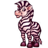Vector illustration of zebra in cartoon style Royalty Free Stock Images