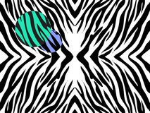 Vector  illustration   of zebra print on white background with  colored spots. Royalty Free Stock Photos