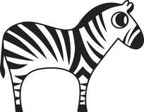 Vector illustration of a zebra. Vector illustration of a stylized zebra Royalty Free Stock Photography