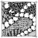 Vector illustration zentangle. Black and white anti stress for adults. Black and white Royalty Free Stock Photo
