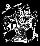 Vector illustration of Zombies characters set. vector illustrati. Vector illustration of Zombies and cute hand-drawn collection Vector EPS 10 illustration Royalty Free Stock Images